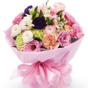 핑크혼합꽃다발-특가상품