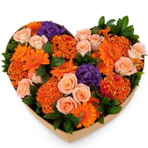 장미와 혼합꽃박스