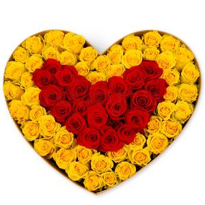 노랑+빨간혼합박스