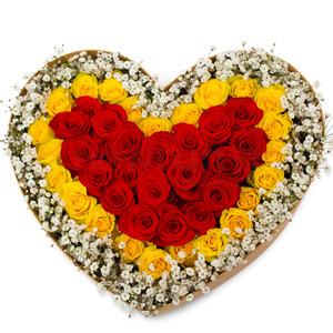 장미와 안개꽃박스